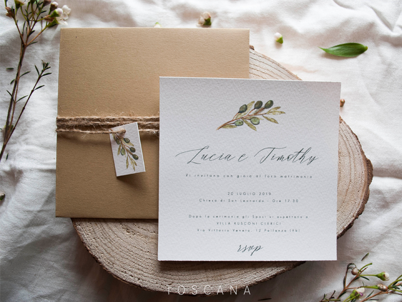 Matrimonio Tema Toscana : Partecipazioni di matrimonio bianco su bianco