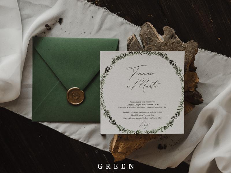 Partecipazioni Matrimonio Green.Partecipazioni Di Matrimonio Bianco Su Bianco